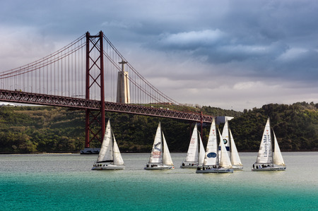 lisbonne: the bridge of 25th of April in Lisbon