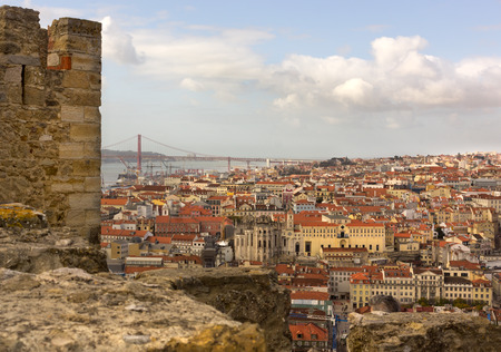 baixa: Views of the old town of Lisbon