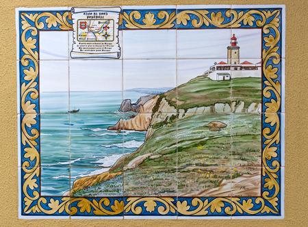 roca: Wall Tile picture coastal Cabo da Roca in Portugal