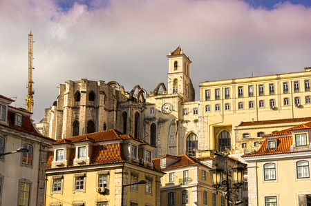 ecclesiastical: Panoramic view to the Igreja do Carmo in Lisbon
