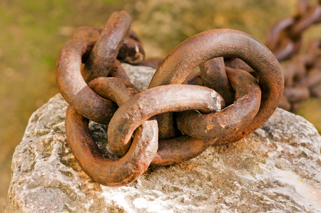 rusted: old rusted chain Stock Photo
