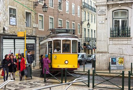 electrico: old tram in lisboa