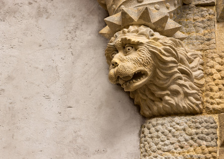 baukunst: Lion sculpture Pena Palace in Sintra Editorial