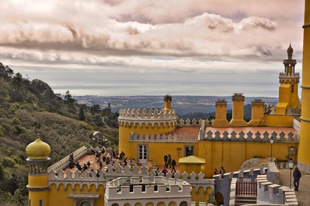 sintra: Restaurant, Pena Palace in Sintra Editorial