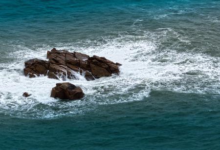 roca: Stony coast in Cabo da Roca Stock Photo