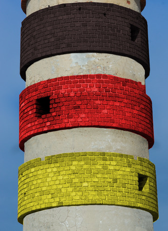 symbolically: colored lighthouse