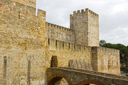 jorge: Castelo de Sao Jorge in Lisbon Editorial