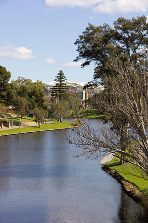 adelaide: River Torrens in Adelaide Stock Photo