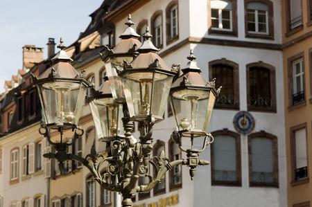 strasbourg: lantern in strasbourg, france