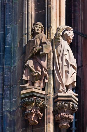 strasbourg: Cathedral of Notre-Dame in Strasbourg Stock Photo