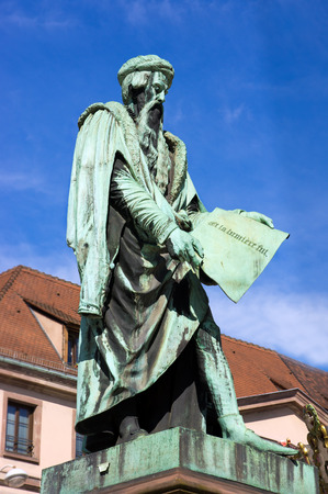 strasbourg: Gutenberg Monument in Strasbourg Stock Photo