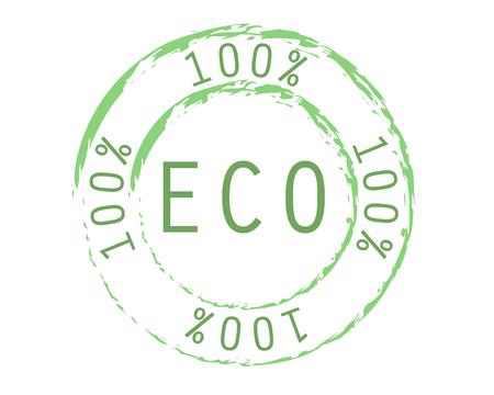 100% eco logo green