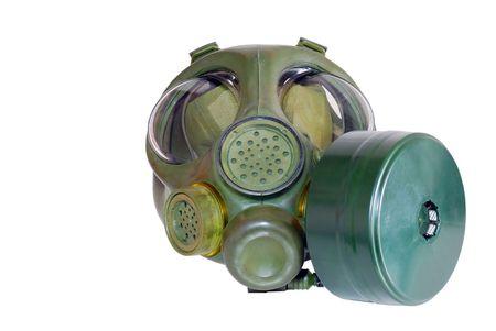 radium:   Isolated Gas Mask Stock Photo