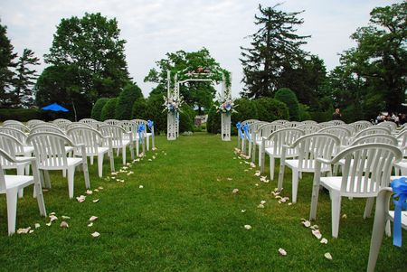 Outdoor Wedding Setup Standard-Bild
