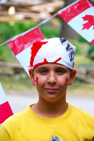 canada day:  Canada Day Child Stock Photo