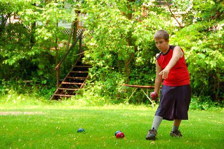 bocce: Child Playing Bocce Ball