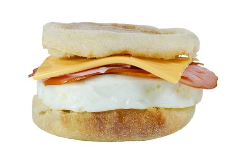ham and cheese: poached egg ham cheese on a english muffin