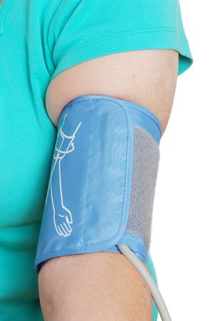 cuffs: Blood pressure cuff on over weight patients arm