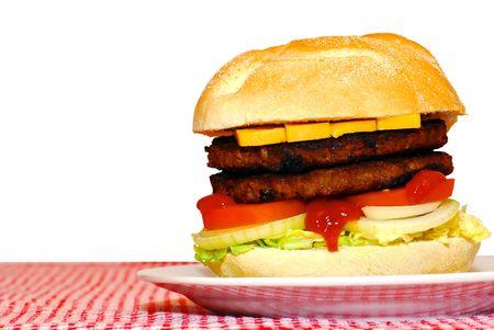 Double hamburger photo
