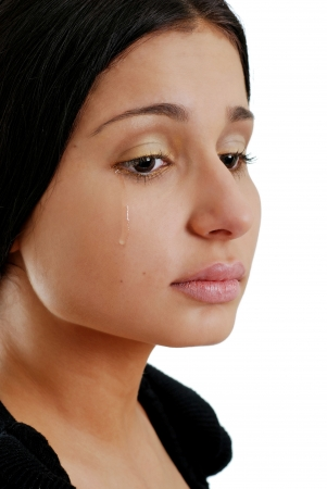 mujer llorando: mujer llorando Foto de archivo