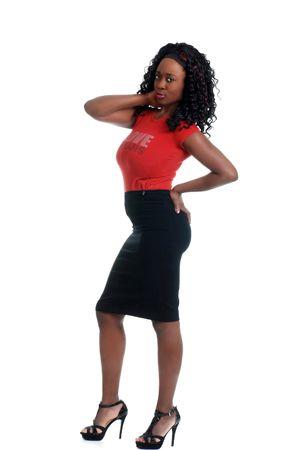 jeune femme jama�cain avec une attitude. Banque d'images - 5486105