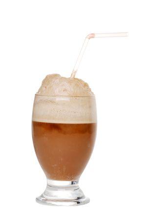 slushy: Cola ice cream float Stock Photo