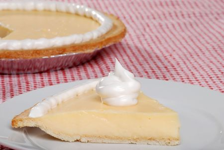 Side view of a slice of banana cream pie Stock Photo - 5531641