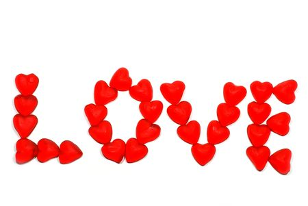 Candy hearts spelling the word love Stock Photo - 5531662