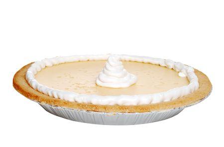 Isolated banana pie with whip cream Zdjęcie Seryjne