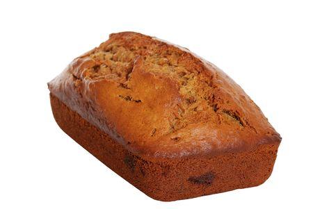 banana bread: Isolated banana bread