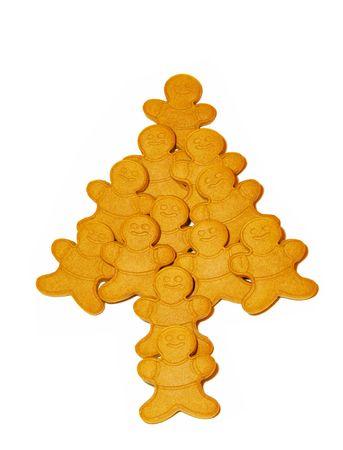 gingerbread: Gingerbread man christmas tree Stock Photo