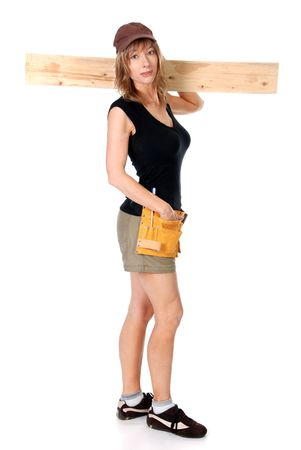 Female construction worker Stock Photo - 5583008