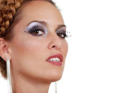 closeup of Hispanic fashion model photo