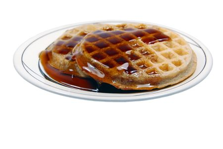 Isolated Waffles on a Plate photo