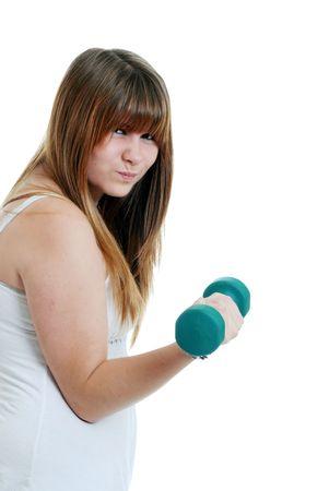 hard: teenager exercising hard