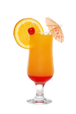tequila sunrise with an umbrella photo