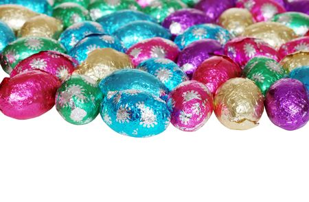 foil: foil wrapped easter eggs