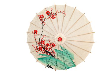 japanese culture: Oriental umbrella isolated