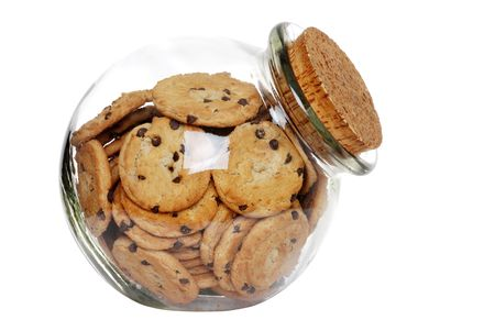 cookies in a jar with cork lid photo
