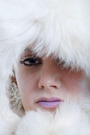 winter woman:  ice princess closeup