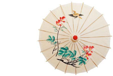 paper umbrella: Oriental umbrella isolated