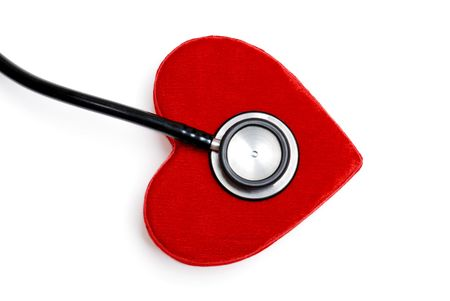 stethoscope on a plush red heart box Stock Photo - 5697482