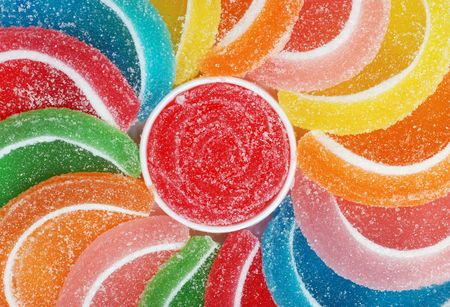 candy fruit slices Stock Photo