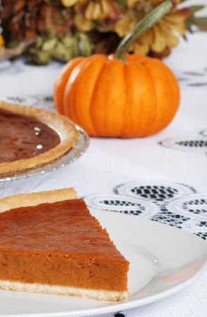 homemade  slice of pumpkin pie Stock Photo - 5698027