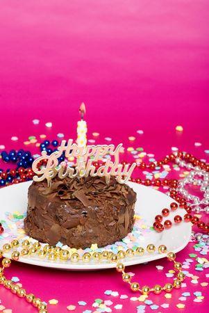 happy birthday chocolate cake photo