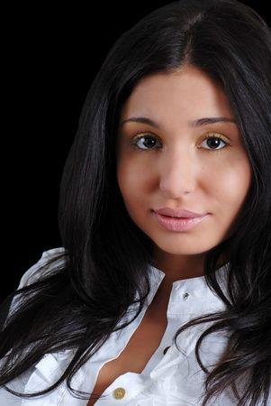 headshot young latin woman photo