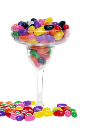 colorful candy beans in a margarita glass photo