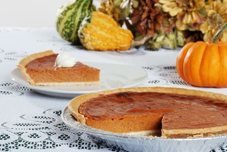 cut pumpkin pie Stock Photo - 5720639