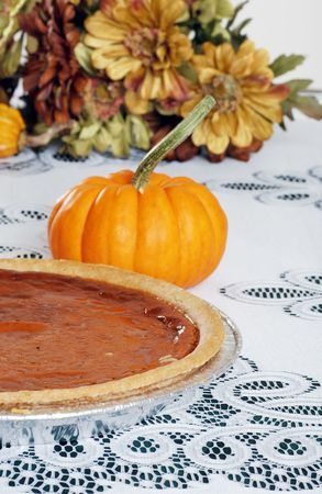 homemade pumpkin pie Stock Photo - 5720706