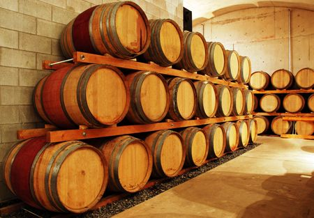 wine barrel storage area Stock Photo - 5720712